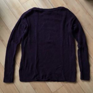 Old Navy burgundy red boat neck sweater top